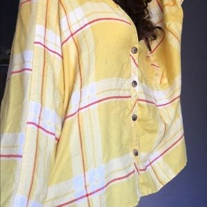 Yellow Plaid Urban Outfitters BDG Flannel Trendy